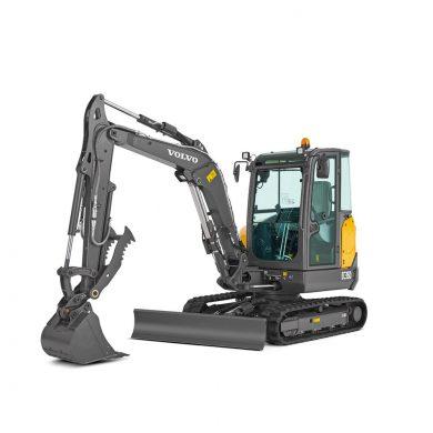 volvo find compact excavator ec35d t4f walkaround 10001000