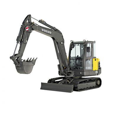 volvo find compact excavator ec55c walkaround 10001000