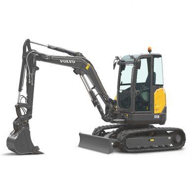 volvo find compact excavator ecr50d walkaround 10001000