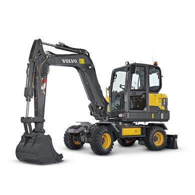 volvo find compact excavator ew60e t4f walkaround 10001000