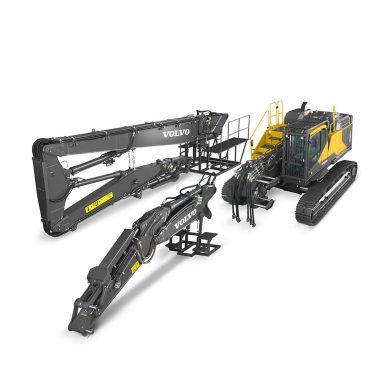 volvo find crawler excavator ec380ehr t4f walkaround 10001000