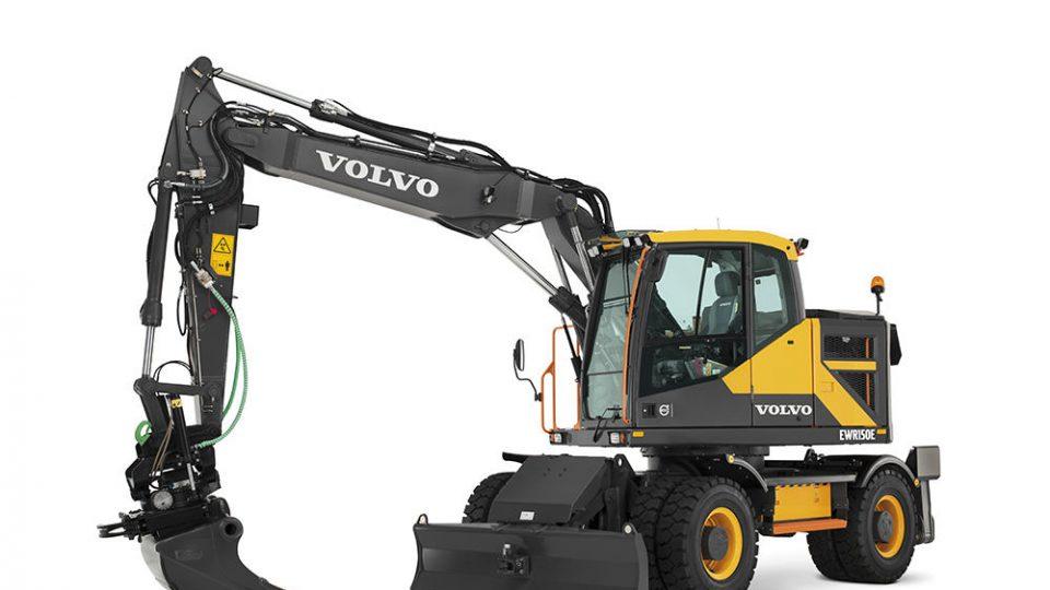 volvo find wheeled excavator ewr150e t4f walkaround 10001000
