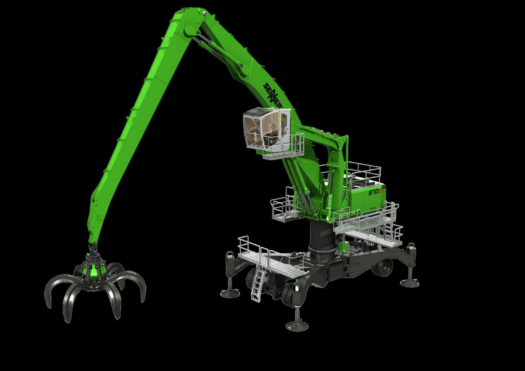Sennebogen Material Handler 870 in action - SMT