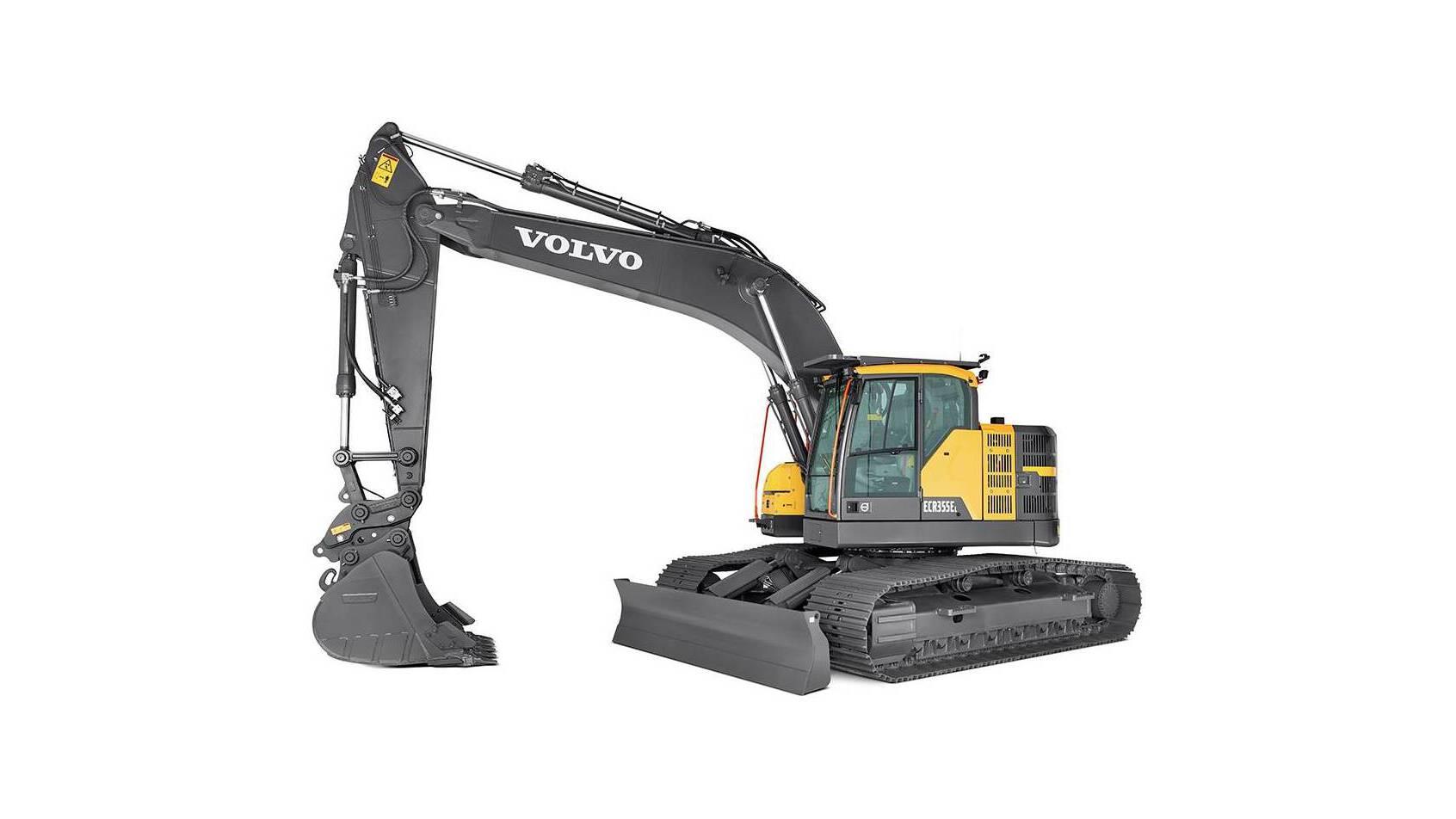 Volvo graafmachine ECR355E verzet veel werk - SMT
